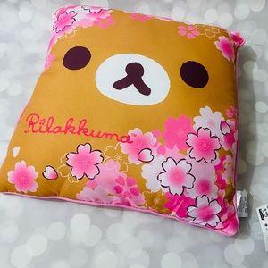 BNWT Reversible Rilakkuma Cherry Blossom Pillow